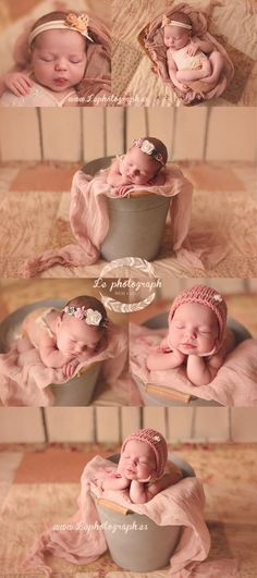 Newborn photography session. Emma, 8 days: Pink and Cream! www.lephotograph.es