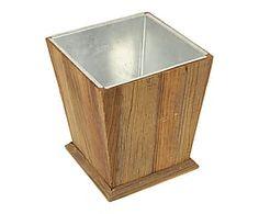 Portavaso in legno e metallo - 31x38x31 cm