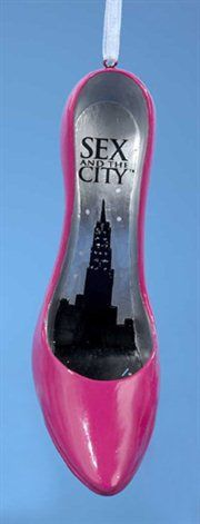 Fashion Avenue Sex & The City Pink High Heeled Stiletto Shoe Christmas Ornament