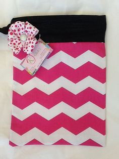 Hot pink chevron by jnknox1 on Etsy, $22.00