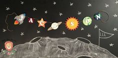 Personalized Outer Space Name Banner Outer by LittleLionLoveliesCo