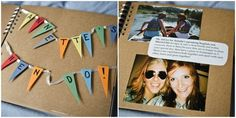 photo album of the hen n stag dos as a wedding gift! Aaw! How sweet. Should make one :)