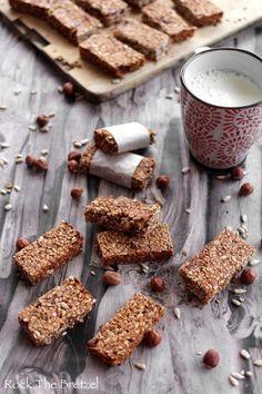 Barres-cereales-maison57 Veg Recipes, Baking Recipes, Healthy Recipes, Healthy Bars, Healthy Cooking, Muesli, Granola, Cas, 20 Min