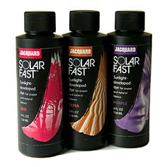 Jacquard SolarFast Paints for sunprinting in 14 amazing colors!  #cyanotype #sunprinting
