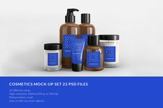 Cosmetics mock-up set 22 psd files by seawasp on @creativemarket