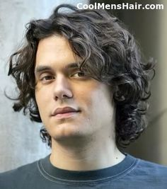 John Mayer Naturally Curly Hairstyles | Cool Men's Hairstyles Pictures & Styling Tips