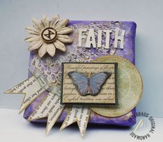 "PaperHaus Magazine: ""Faith"" & ""Hope"" mini altered Canvases"