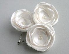 Bridal Flower Headpiece Wedding Hair Accessory by SarasBoutique