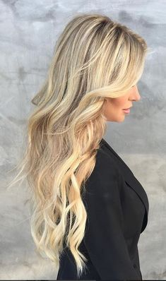 blonde highlights and extensions