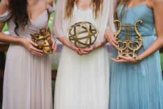 Nine Muses // Greek Mythology // Grecian Goddess // Wedding Inspo // Watercolor // Calligraphy Details // Pastel Bridesmaids // Jessie Holloway Photography