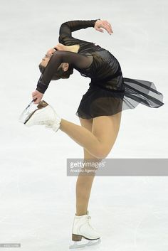 Adelina Sotnkova of Russia skate in the Ladies Free Skating during Rostelecom Cup ISU Grand Prix of Figure Skating 2015, at the Small Sports Arena of Olympic Complex Luzhniki, in Moscow, Russia, on November, 21,2015.