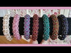 Beaded bracelet for beginners/seed beads-pearls - YouTube