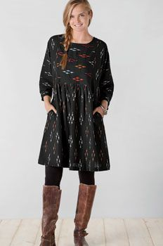 Sakshi Dress - Black/multi