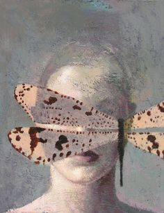 magnoliagordo815:    Laurie Kaplowitz - Dragonfly Veil, 2010             Acrylics on Canvas
