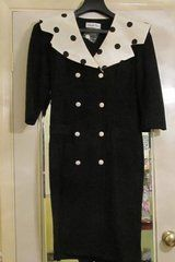 Black Dress with Cream Polka Dot Collar  - £18 - Listed by Sell it socially         has been published on Sell it Socially