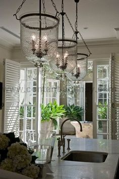 PORCHLIGHT INTERIORS: Natural Elements!         Love these lights.