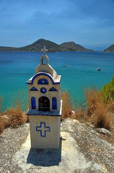 Greek Island roadside shrine | Roadside Greek Orthodox Shrine,