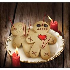 Fred Halloween Cursed Cookies Spooky Voodoo Doll Bake Stick  Pins Gingerbread