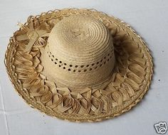 #women hat : women straw hat size L (58) natural palm straw made in Guatemala  (014) withing our EBAY store at  http://stores.ebay.com/esquirestore