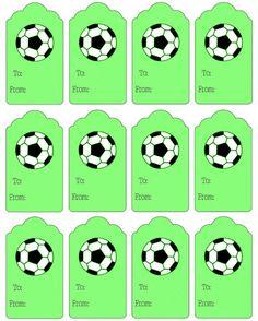 Printable Soccer Gift Tags - Printable Treats