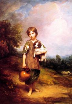 Gainsborough, Cottage Girl With Dog And Pitcher