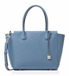 cf6883c7d2c2c8 Michael Kors KORS STUDIO Mercer Large Satchel Denim Blue Leather Purse -  NWT #MichaelKors #