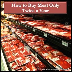 Meat is expensive and prices aren't going to go down anytime soon. One of the ways we save money is by buying meat only twice a year and you can, too!