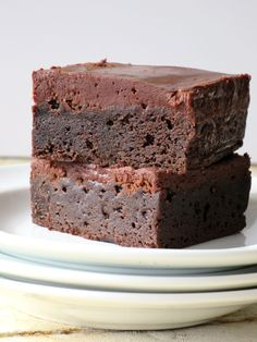 Frosted Fudge Brownies. Chocolate, fudgy, dense wondrous brownie topped with creamy, rich, luscious, chocolate frosting!