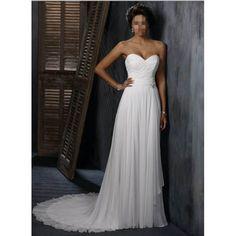 Charming Sweet Heart Chiffon Slim A-line Wedding Dress (HQ-2714)