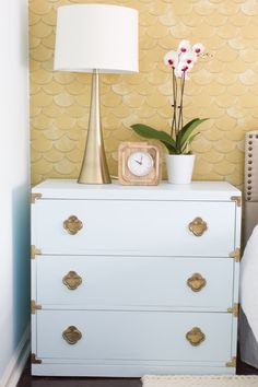 See the before and after of this thrift store nightstand makeover! It was a major transformation.