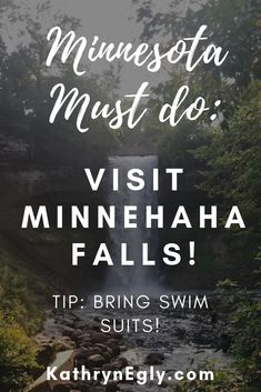 A Minnesota MUST DO: Visit Minnehaha Falls! Easy, fun, and beautiful for all ages! Tip: Bring Swim suits. Click for more pictures. #momblogger #travel with kids