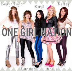 One Girl Nation- awesome new group, super girly and inspiring! Their album came out today and I REALLY would like to purchase it even though I've only heard one song via YouTube...