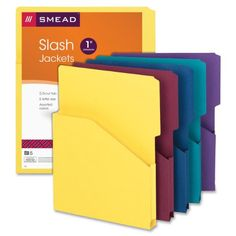 Smead Expanding Slash Jacket, 1 Inch Expansion, Letter Size, Assorted Colors, 5 per Pack (75445) Smead,http://www.amazon.com/dp/B001GXFOKQ/ref=cm_sw_r_pi_dp_ilevtb11M0R6ENYT