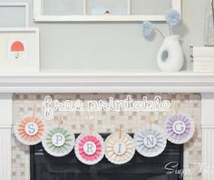 Spring Rosette Banner from I Heart Naptime, featured by @savedbyloves