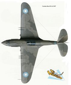 Avg Cbi USAAF 14TH Fuerza Aérea Curtiss P-40 Warhawk Parche