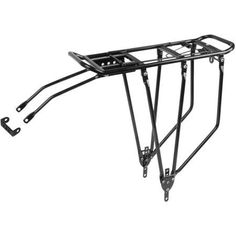 Bicycle Carrier Basket Bike Rear Rack Aluminum 3 Leg W// Spring Black Reflector
