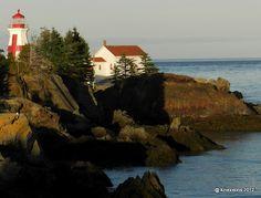 Head Harbour Lightstation on Campobello Island, New Brunswick, Canada