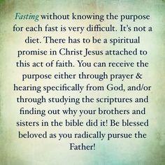 Fasting advice