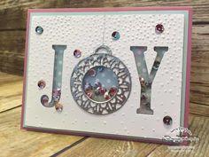 One Stampin' Mother Tucker, Fancy Frost Sequins, Large Letter Framelits, Merriest Wishes Bundle, Softly Falling TIEF, Stampin' Up!, Shaker Card, ICS Blog Hop