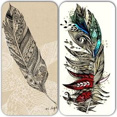 Love these feathers!