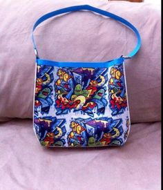 Graffiti duct tape purse featured on ducttapefashion.com. #ducttape