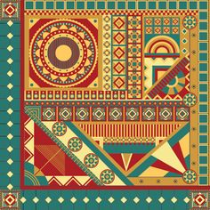... art deco floral geometric inspired by architecture patterns