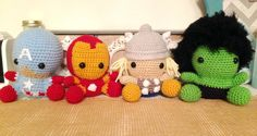 Marvel Superhero Sweeties by NannysKnotsnClocks on Etsy https://www.etsy.com/listing/269702037/marvel-superhero-sweeties