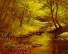 Autumn Gold - Landscape Paintings by Joe Kazimierczyk
