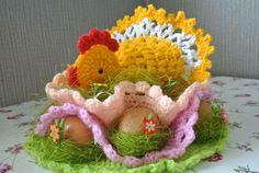 Happy Easter to you and your family. - Crochet creation by janegreen