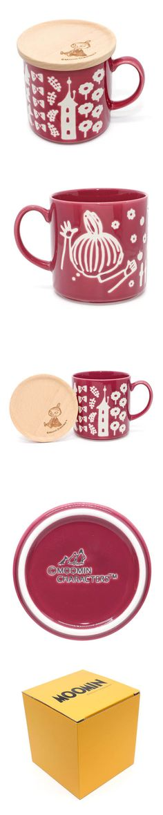 muumi moomin valley Little My ami red porcelain mug wooden lid box set by yamaka lifestyle KAWAMONO Moomin Mugs, Moomin Valley, Tove Jansson, Porcelain Mugs, My Cup Of Tea, Ceramic Design, Little My, Hand Painted Ceramics, Mug Cup