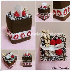 Chocolate Berry Tissue Cake Bx by SongAhIn.deviantart.com on @deviantART