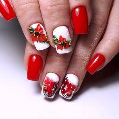 Christmas Nail Designs - My Cool Nail Designs Christmas Gel Nails, Christmas Nail Art Designs, Holiday Nails, New Year's Nails, 3d Nails, Cute Nails, Beautiful Nail Designs, Cute Nail Designs, Winter Nail Art