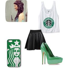 """Starbucks!"" by niya-forever on Polyvore"