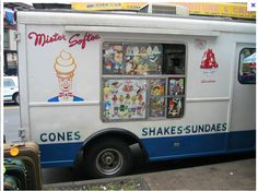 Mr. Softee Ice Cream truck. They sold soft-serve ice cream in a cone.